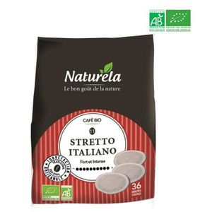 CAFÉ - CHICORÉE Naturela Café Dosettes Souples Stretto Italiano n°