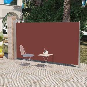 PARAVENT Auvent latéral rétractable 160 x 300 cm Marron