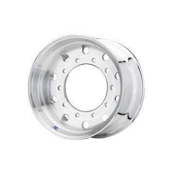 Roue ALCOA en aluminium forgé pour Poids Lourd - 22.5x11.75 déport 0 mm - Perçage 26 mm - Capacité 4.750 kg - Finition Brossée