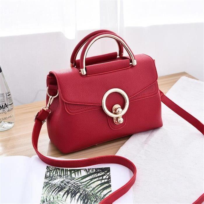 998fe9a279 sac chaine luxe rouge Sacs Sacs À Main Femmes Célèbres Marques meilleur femmes  sacs à main en cuir marque de luxe cartable femme