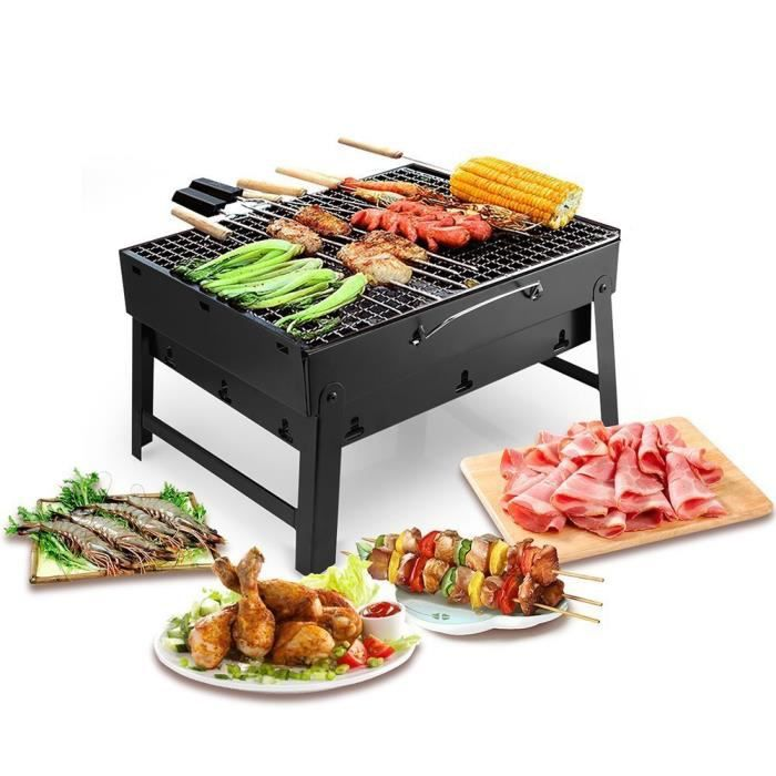 barbecue portable petit barbecue charbon pliable avec 2. Black Bedroom Furniture Sets. Home Design Ideas