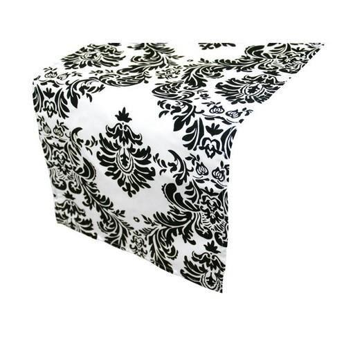 chemin de table blanc et noir - achat / vente chemin de table