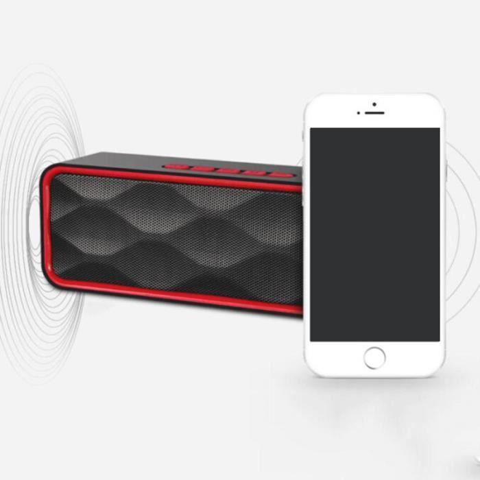 4.2 Enceinte Bluetooth Haut-parleur Sans Fil Portable,commande Tactile Et Définition Stéréo Carte Tf Disque U Support