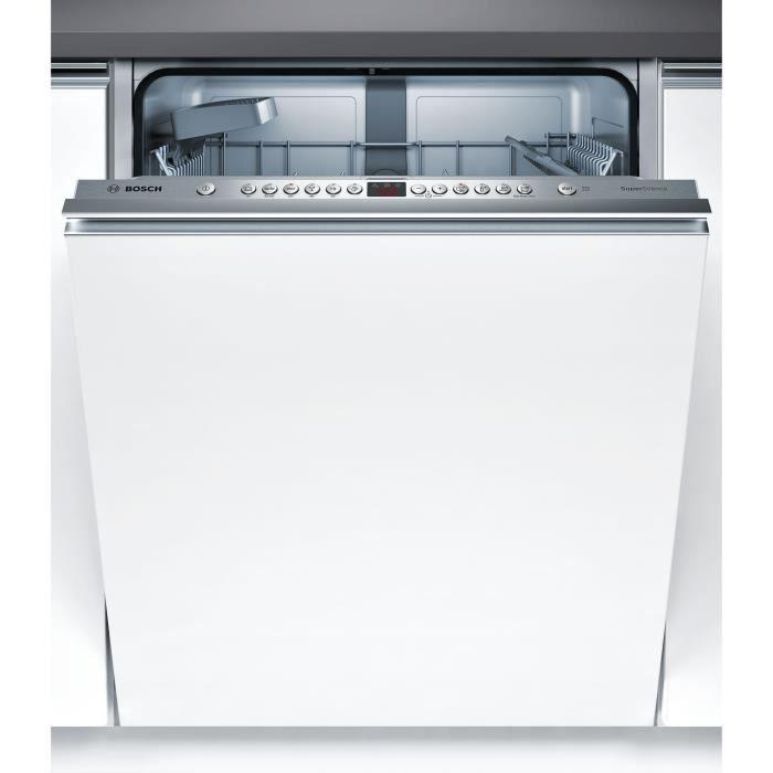 Lave Vaisselle Silencieux Db #12: BOSCH SMV46IX03E - Lave Vaisselle Tout Intégrable - 13 Couverts - Très  Silencieux 44 DB - A++ - L60 Cm - Moteur Induction