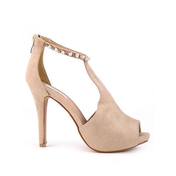 Bottines Beige Chaussures Femme.…