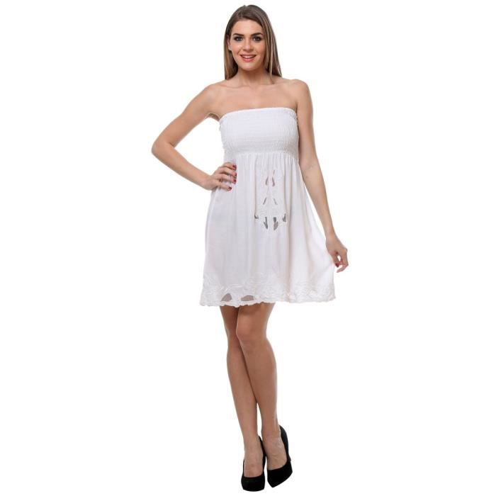 Womens Viscose Embroidered Tube Dress 1FNZ2J Taille-34