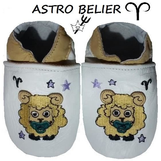 CHAUSSONS CUIR ASTRO BEBE 0-6 MOIS