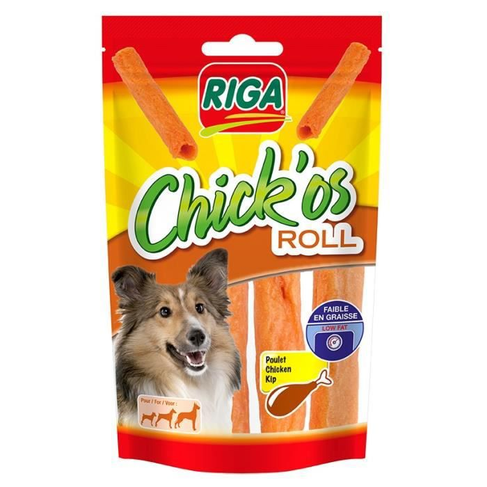 FRIANDISE RIGA Chick'os Roll Friandises pour chien - Sachet