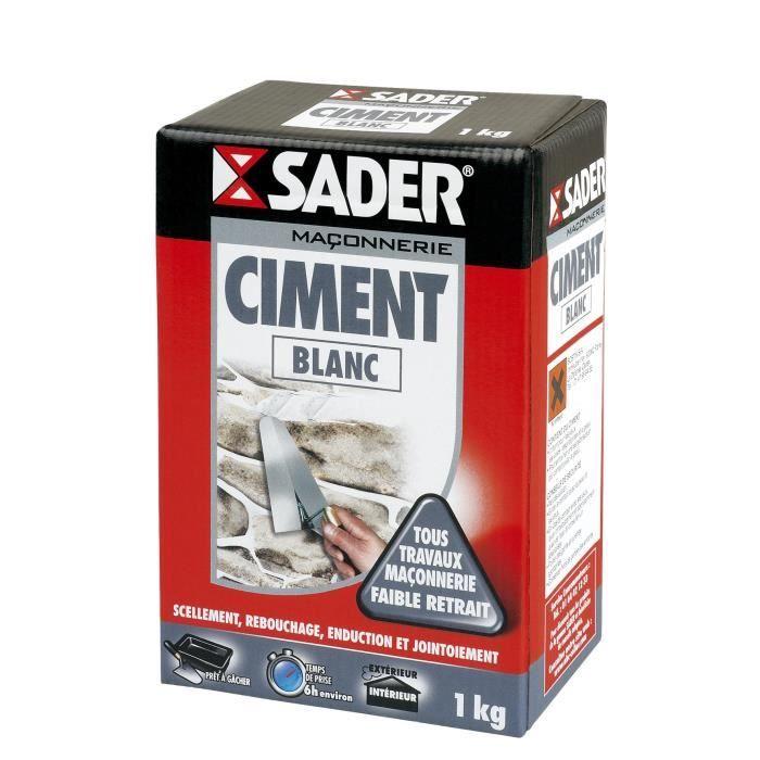 Sader Boite Ciment - Blanc - 1Kg - Achat / Vente Ciment - Béton