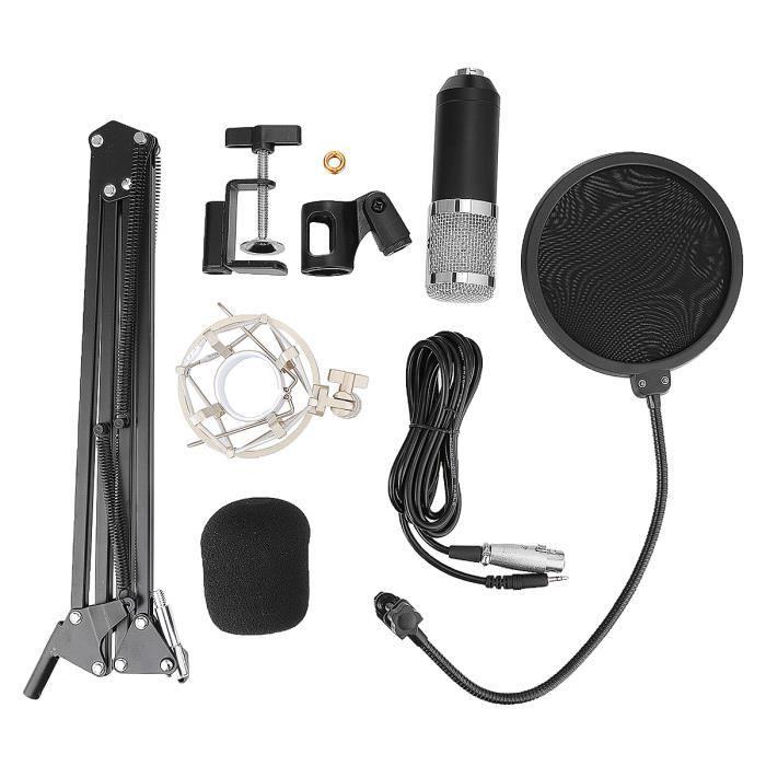 Tempsa Microphone À Condensateur Bm800 Avec Support De Bras En Ciseaux Montage Sur Amortisseur