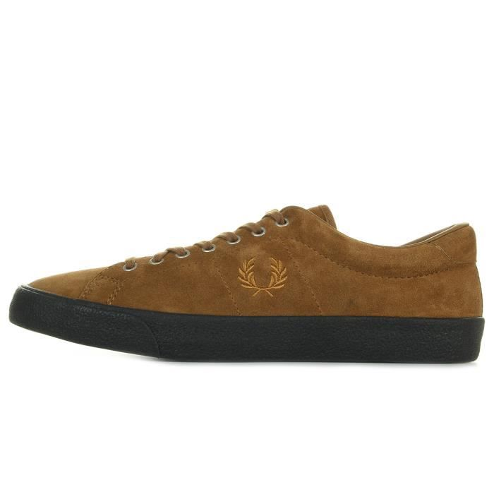 Baskets Fred Perry Underspin Suede Ginger Black