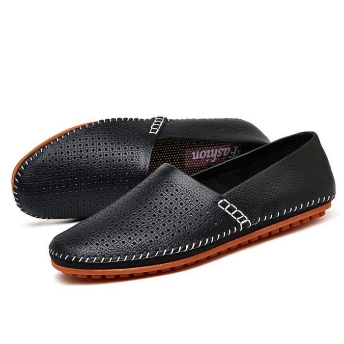 Chaussures Femme Printemps Été Comfortable Cuir Chaussure DTG-XZ063Noir40 nbDWi7VvF