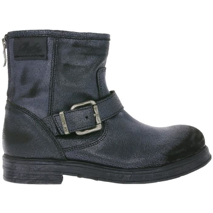 REPLAY Miya bottines en cuir véritable pour femme avec boucle