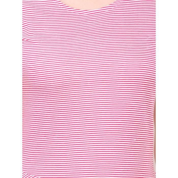Womens Striped Fit And Flare Dress O84AD Taille-38