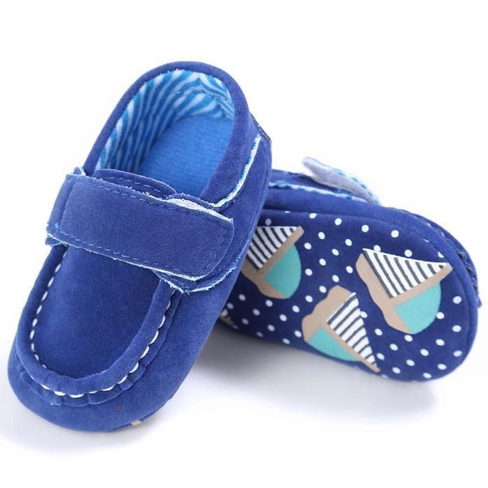 Mocassins On Tout Doux Lit Chaussures Bb Prewalker petits bleu Slip Mignon Confort 8Bqw7Rx