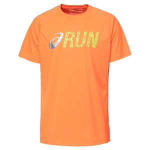 MAILLOT DE RUNNING ASICS Graphic Tee shirt manches courtes Homme - Or