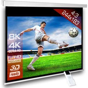ECRAN DE PROJECTION 4:3 Écran videoprojecteur motorisé 244 x 183 cm po