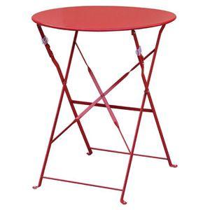 MANGE-DEBOUT Boléro rouge Pavement style acier Table 595mm