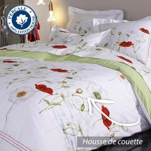 HOUSSE DE COUETTE SEULE Housse de couette 200x200 cm Percale pur coton SED