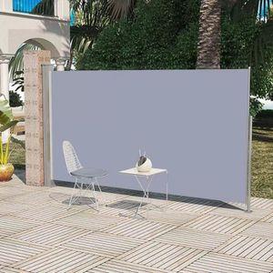 PARAVENT Auvent latéral rétractable 160 x 300 cm Gris