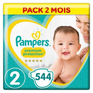 COUCHE PAMPERS New Baby Taille 2 (4-8kg) 544 couches - Fo