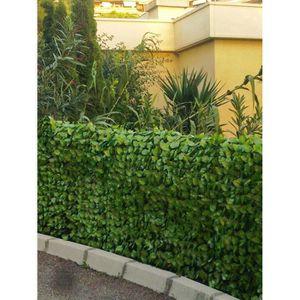 f50eceb79ae8 Haie artificielle feuilles de Rosier coloris vert tendre, 1,00m x 3m ...