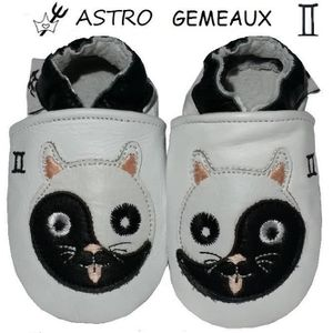 CHAUSSON - PANTOUFLE CHAUSSONS CUIR ASTRO BEBE 18-24 MOIS