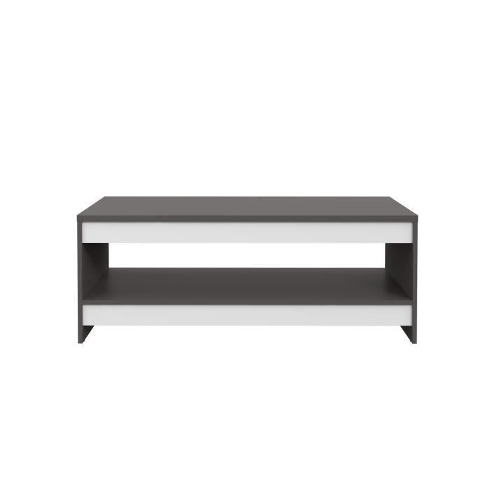 FINLANDEK Table basse MIDTOWN - Contemporain - Décor blanc mat et gris wolfram uni - L 94.5 cm
