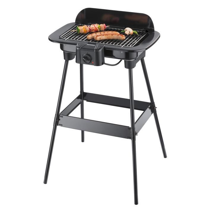 SEVERIN PG8521 Barbecue électrique sur pieds - Noir