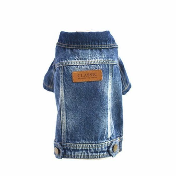 Boutons Pression Pour Chat Bleu Chien Jeans J1j62 Et Avec En Veste wIFtOq