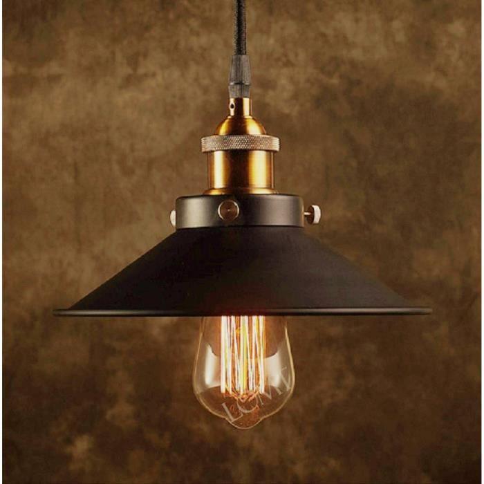 vintage industriel m tal noir abat jour lampe murale applique bronze pliable plafonnier achat. Black Bedroom Furniture Sets. Home Design Ideas