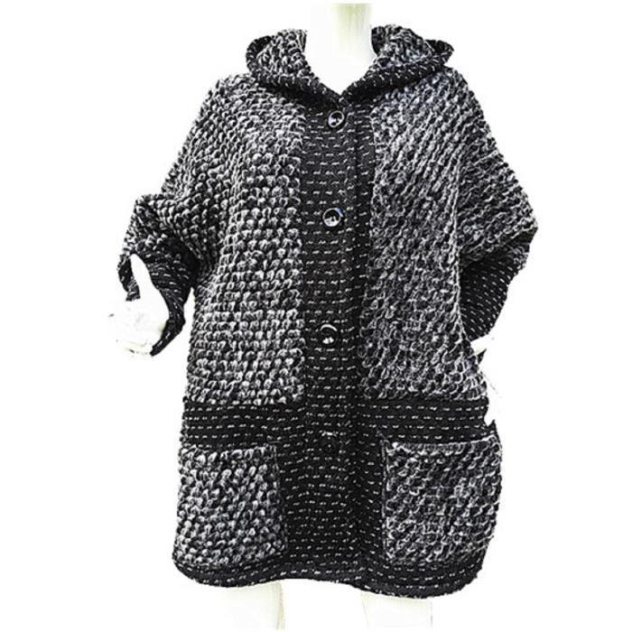 manteau femme veste laine grande tailles hiver chaud ample. Black Bedroom Furniture Sets. Home Design Ideas