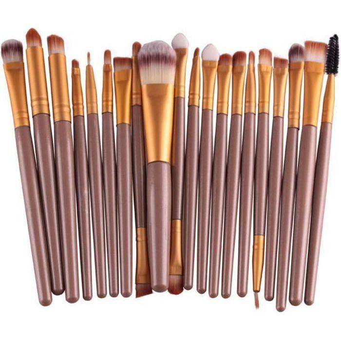 PINCEAUX DE MAQUILLAGE 20 pcs , outils Set pinceau de maquillage Set de m