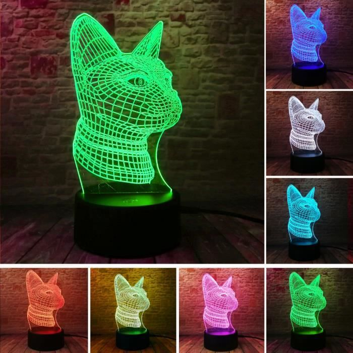 Bois F Personnalis/é 3D lampe de bureau photo gravure nuit lumi/ère cadeau unique de No/ël