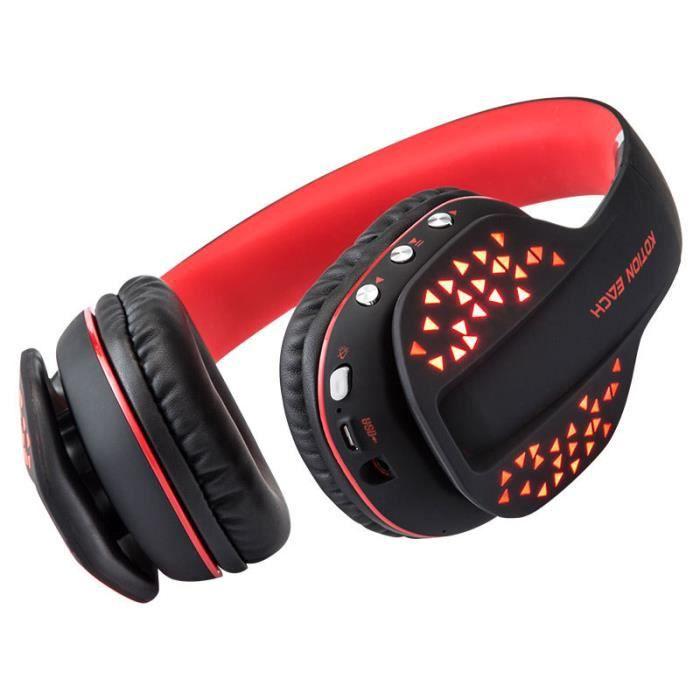 Athlete-casque Gaming Sports Bluetooth Sans Fil,casque Gamer Hi-fi Audio Stéréo Antibruit,pour Téléphones/tv/pc/ordinateur
