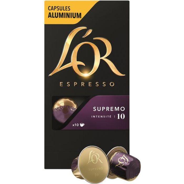 CAFÉ L'Or Espresso Supremo intensité 10 café en capsule
