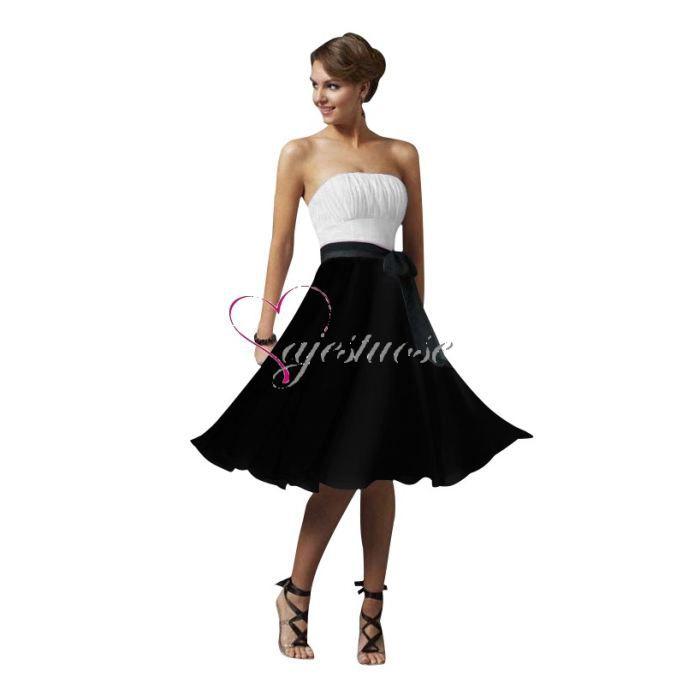Robe soiree noire et blanc