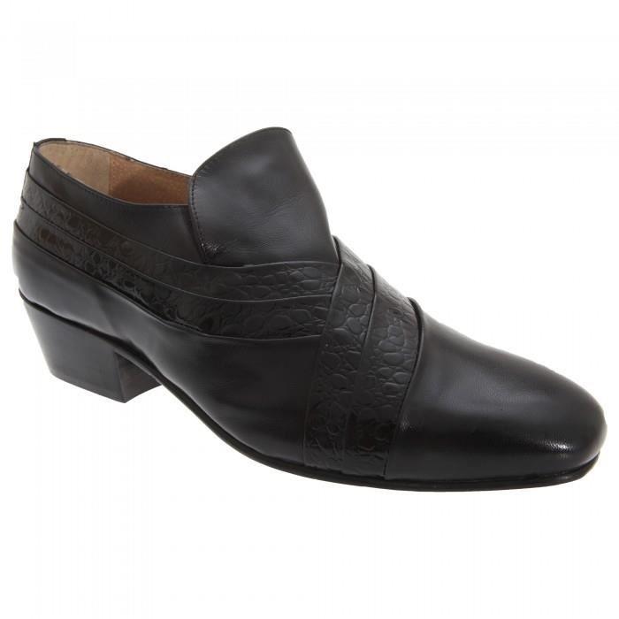 0d679a366f7 Montecatini - Chaussures de ville en cuir à talon cubain - Homme ...