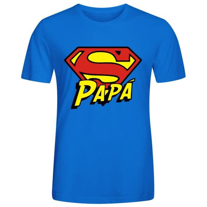 t shirt homme papa super papa fete des peres t shirt homme. Black Bedroom Furniture Sets. Home Design Ideas