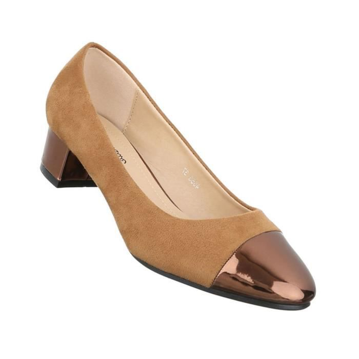 Femme escarpin chaussures Élégant High Heels confort Camel 39 4UjbF6sGNt