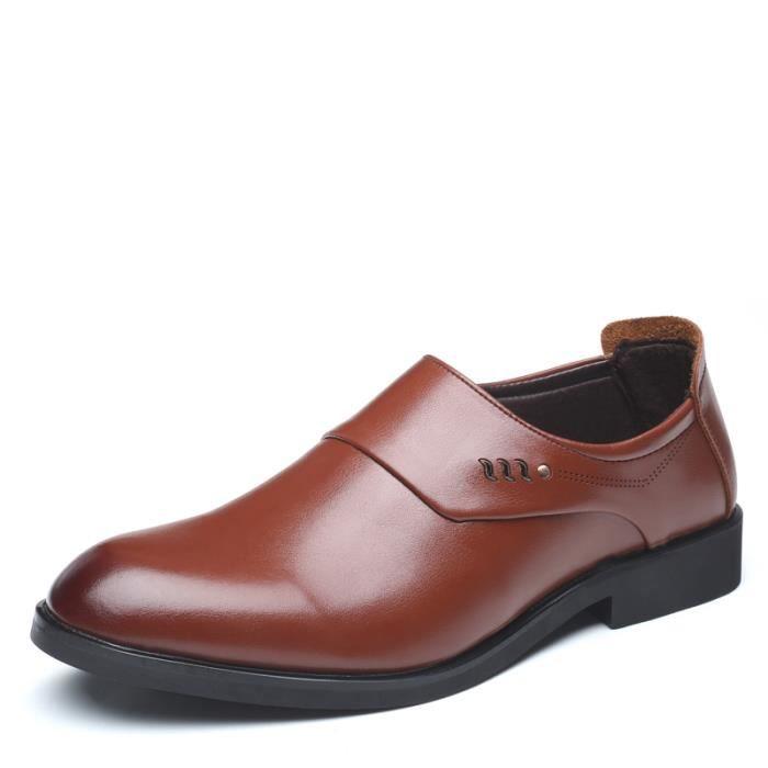 6db7f15095aaee Officieles Noir Homme Confortables Pour Costume Mode Ville De brun Mocassins  Chaussures xzfpqgwp0