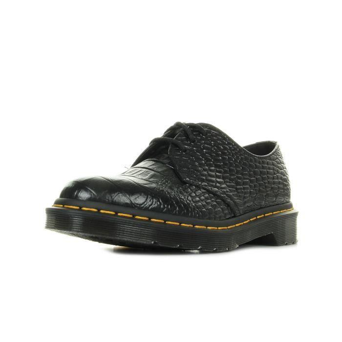 Chaussures Dr Martens 1461 Croc Black Noir Noir - Achat   Vente ... 4a80253925e0