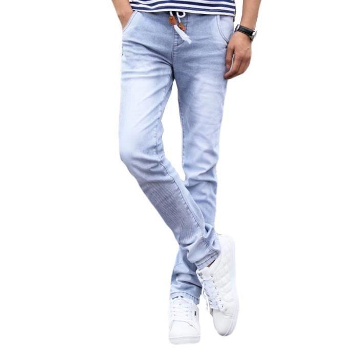 vraie qualité haut fonctionnaire meilleur prix pour Jeans Skinny Homme Slim Fit Jean Homme Taille Élastiquée