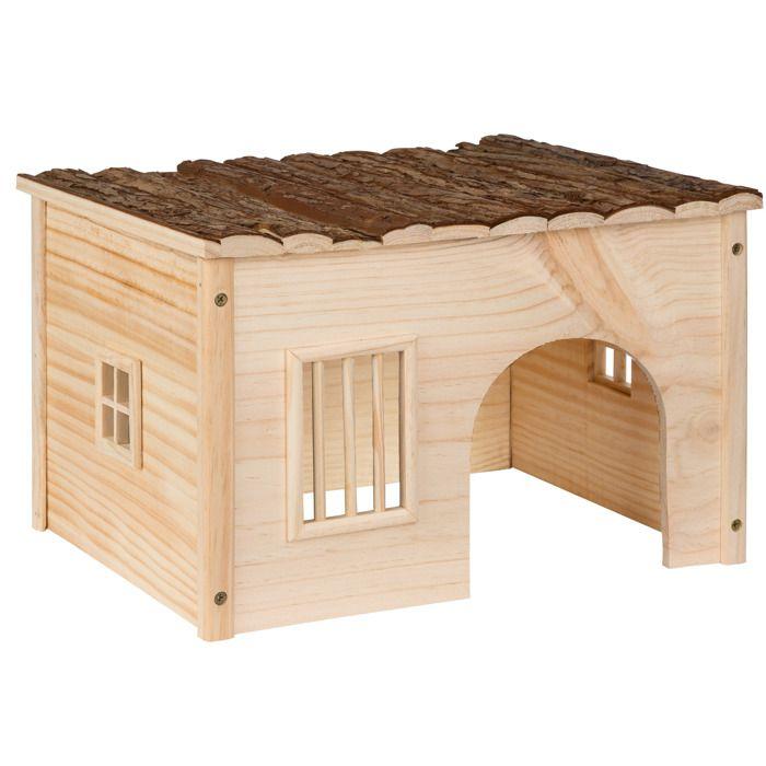 abri pour lapin maison pour rongeurs en bois de pin 41 cm x 34 5 cm x 26 cm tectake achat. Black Bedroom Furniture Sets. Home Design Ideas
