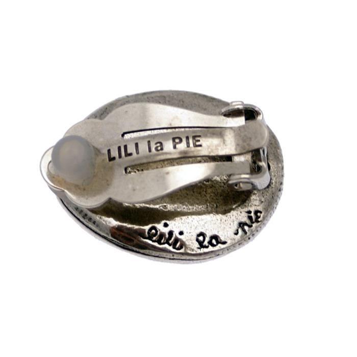 Boucles doreilles type clip IDYLLEViolet