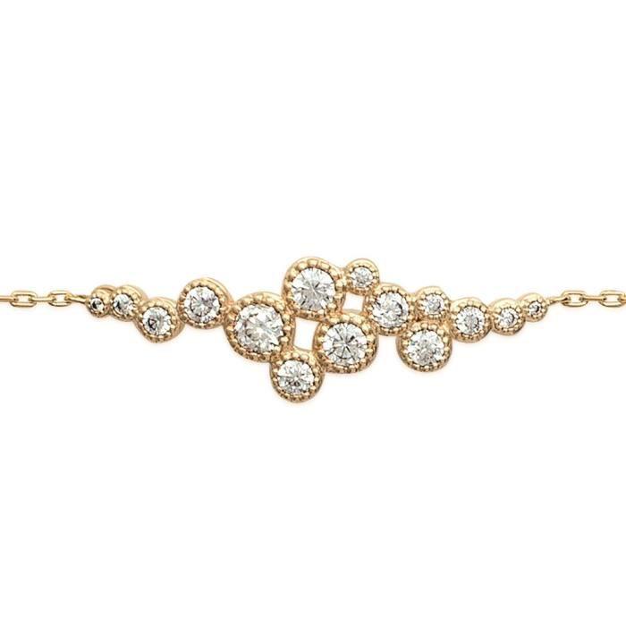 MARY JANE - Bracelet plaqué Or - Long:16-18cm - Larg:10mm - Femme