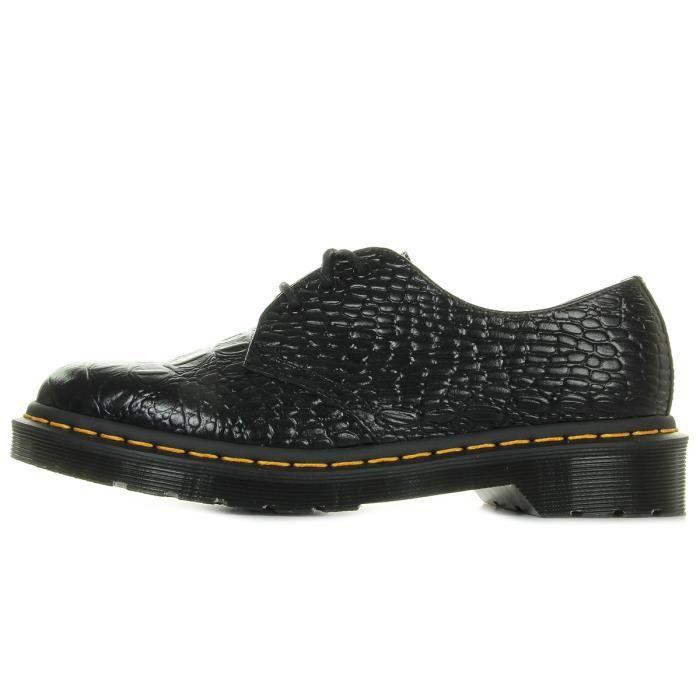 Chaussures Dr Martens 1461 Croc Black