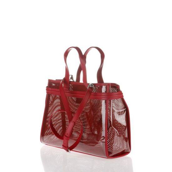 ARMANI JEANS - Sac Cabas en PVC Rouge Transparent - Femme Rouge transparent  - Achat   Vente sac shopping 8057015606521 - Cdiscount c6808a5a1d2
