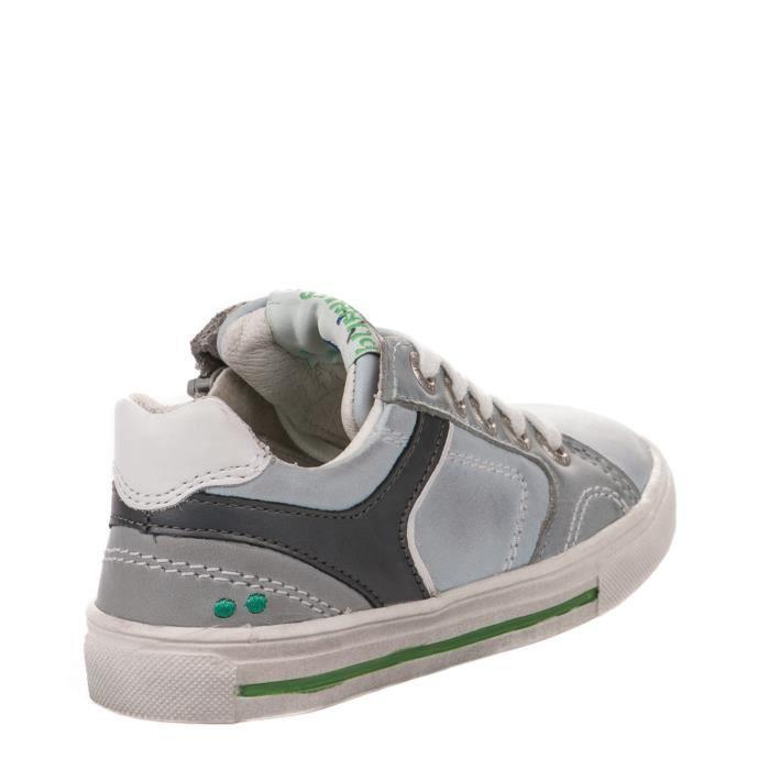 Chaussures à lacet garçon - BUNNIES - Gris clair - 217421 - Millim
