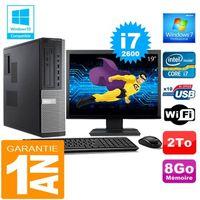 UNITÉ CENTRALE + ÉCRAN PC DELL 7010 DT Core I7-2600 Ram 8Go Disque 2 To W